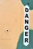 επιγραφή κινδύνου Στοκ φωτογραφία με δικαίωμα ελεύθερης χρήσης