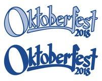 Επιγραφή με το κείμενο Oktoberfest 2018 Στοκ εικόνα με δικαίωμα ελεύθερης χρήσης