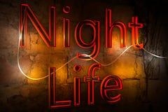 Επιγραφή & x22 Νύχτα Life& x22  Στοκ φωτογραφία με δικαίωμα ελεύθερης χρήσης
