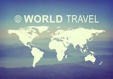 Επιγραφή παγκόσμιου ταξιδιού Στοκ Εικόνες