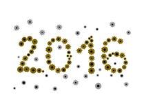 Επιγραφή 2016 που αποτελείται από cog-wheels Στοκ φωτογραφίες με δικαίωμα ελεύθερης χρήσης