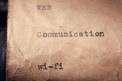 Επιγραφή που γίνεται εκλεκτής ποιότητας από τη γραφομηχανή Στοκ Εικόνα