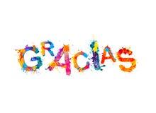 Επιγραφή στα ισπανικά: Σας ευχαριστούμε gracias ελεύθερη απεικόνιση δικαιώματος