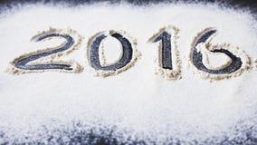Επιγραφή 2016 στο αλεύρι Στοκ Εικόνα