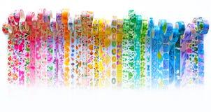 Επιγραφή ταινιών Washi ουράνιων τόξων Στοκ Φωτογραφία