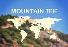 Επιγραφή ταξιδιού βουνών Στοκ εικόνες με δικαίωμα ελεύθερης χρήσης