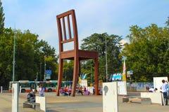 Επιδεικνύοντες μπροστά από το γραφείο των Η.Ε στη Γενεύη Στοκ φωτογραφίες με δικαίωμα ελεύθερης χρήσης