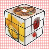 Επιδόρπια Rubik στοκ εικόνα