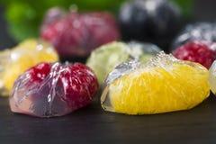 Επιδόρπιο ζελέ με τα φρούτα Στοκ Εικόνες