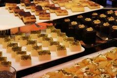 Επιδόρπιο και κέικ Τουρκικό επιδόρπιο Διάφορος τύπος επιδορπίου Στοκ Εικόνες