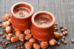 επιδόρπιο κρέμας καφέ στοκ εικόνα με δικαίωμα ελεύθερης χρήσης