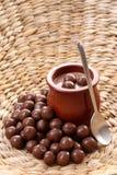 επιδόρπιο κρέμας σοκολάτας στοκ εικόνες