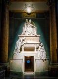 Επιεικής XIV ενταφιασμός παπάδων από το Antonio Canova, στη βασιλική του Santi ΧΙΙ Apostoli, στη Ρώμη, Ιταλία Στοκ Φωτογραφίες