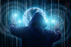 Επιθέσεις κλεφτών στο παγκόσμιο δίκτυο Στοκ φωτογραφίες με δικαίωμα ελεύθερης χρήσης