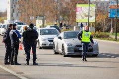 Επιθέσεις της Γαλλίας Παρίσι - επιτήρηση συνόρων με τη Γερμανία Στοκ φωτογραφία με δικαίωμα ελεύθερης χρήσης