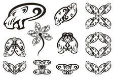 Επιθετικά φυλετικά επικεφαλής σύμβολα λιονταρινών απεικόνιση αποθεμάτων