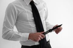Επιθετικός και 0 επιχειρηματίας Στοκ Φωτογραφίες