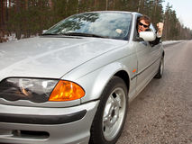 επιθετικός οδηγός έννοι&alph Στοκ Εικόνες