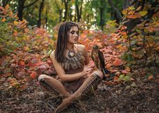 Επιθετικός-σεξουαλικό άγριο κορίτσι στοκ εικόνα με δικαίωμα ελεύθερης χρήσης