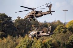 Επιθετικό ελικόπτερο του Boeing ah-64D Apache αμερικάνικου στρατού Στοκ Εικόνα