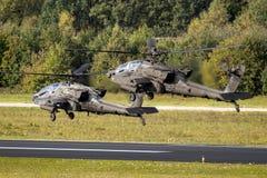 Επιθετικό ελικόπτερο του Boeing ah-64D Apache αμερικάνικου στρατού στοκ φωτογραφίες με δικαίωμα ελεύθερης χρήσης