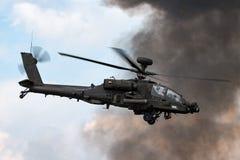 Επιθετικό ελικόπτερο ZJ 172 Apache AgustaWestland wah-64D AH1 του βρετανικού σώματος αέρα στρατού Στοκ εικόνα με δικαίωμα ελεύθερης χρήσης