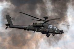 Επιθετικό ελικόπτερο ZJ 172 Apache AgustaWestland wah-64D AH1 του βρετανικού σώματος αέρα στρατού Στοκ Εικόνα