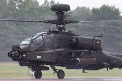Επιθετικό ελικόπτερο ZJ 172 Apache AgustaWestland wah-64D AH1 του βρετανικού σώματος αέρα στρατού Στοκ Φωτογραφία