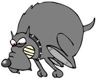 επιθετικό σκυλί Στοκ εικόνα με δικαίωμα ελεύθερης χρήσης