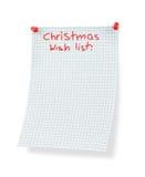 επιθυμία καταλόγων Χριστουγέννων Στοκ Εικόνες
