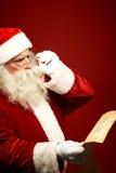 Επιθυμία Χριστουγέννων ανάγνωσης Στοκ Φωτογραφία
