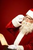 Επιθυμία Χριστουγέννων ανάγνωσης Στοκ Εικόνα