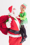 Επιθυμία 2016 Χριστουγέννων κορίτσι Claus λίγο santa Επιθυμίες αφήγησης Στοκ φωτογραφίες με δικαίωμα ελεύθερης χρήσης