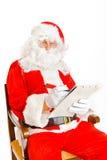 επιθυμία santa καταλόγων Claus Στοκ εικόνες με δικαίωμα ελεύθερης χρήσης