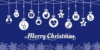 Επιθυμίες Χριστουγέννων ιατρικής και υγειονομικής περίθαλψης ελεύθερη απεικόνιση δικαιώματος