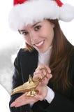 επιθυμίες Χριστουγέννω&nu Στοκ Εικόνες
