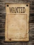 Επιθυμητή νεκρή ή ζωντανή αφίσα εγγράφου. Στοκ Εικόνες