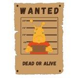 Επιθυμητός, σαλιγκάρια, αφίσα, σαλιγκάρια ταχύτητας, νεκροί ή ζωντανός διανυσματική απεικόνιση