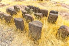 Επικήδειοι πύργοι και καταστροφές σε Sillustani, προϊστορικές καταστροφές του Περού, νότια Αμερική Inca κοντά σε Puno Στοκ φωτογραφίες με δικαίωμα ελεύθερης χρήσης