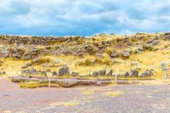 Επικήδειοι πύργοι και καταστροφές σε Sillustani, προϊστορικές καταστροφές του Περού, νότια Αμερική Inca κοντά σε Puno Στοκ φωτογραφία με δικαίωμα ελεύθερης χρήσης