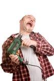επικίνδυνη μηχανή τρυπανιών Στοκ εικόνα με δικαίωμα ελεύθερης χρήσης