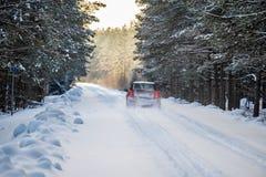 Επικίνδυνος χειμερινός δρόμος στοκ εικόνες