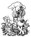Επικίνδυνο κόμμα τσαγιού Διανυσματική απεικόνιση