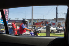 Επικίνδυνη εργασία στο Περού Στοκ Εικόνες