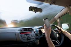 επικίνδυνη οδήγηση Στοκ φωτογραφίες με δικαίωμα ελεύθερης χρήσης