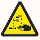 επικίνδυνη προειδοποίηση συμβόλων προϊόντων Στοκ εικόνες με δικαίωμα ελεύθερης χρήσης
