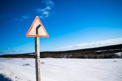 επικίνδυνη στροφή Στοκ Εικόνες