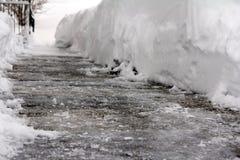 Επικίνδυνος μαύρος πάγος στοκ φωτογραφία