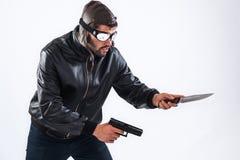 Επικίνδυνος νέος δολοφόνος έτοιμος για το έγκλημα Στοκ εικόνες με δικαίωμα ελεύθερης χρήσης