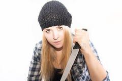 Επικίνδυνος ξανθός Στοκ φωτογραφίες με δικαίωμα ελεύθερης χρήσης